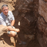 Cosmopoulos at the excavation of the Cyclopean Terrace at the Iklaina archaeological dig in southwestern Greece.